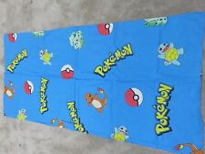 Pokemon retro blue craft remnant material sewing piece 105x50cm 100% cotton