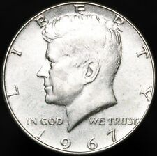 More details for 1967   u.s.a. kennedy half dollar   silver   coins   km coins