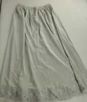Vintage 60s Vanity Fair Nylon Lace Flowers Half Slip Dove Gray Size Small