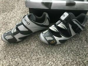 GIRO Women's SICA MTB Shoes in Charcoal/Silver, Size EU 38 US 6.5