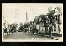 Warwickshire SOLIHULL High St 1936 RP PPC Morris Series