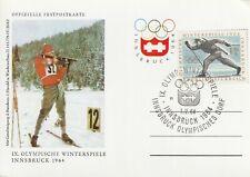 1964 Austria card - 9th Winter Olympic Games Innsbruck -Olympic Village