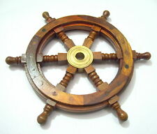 Antique Wheel Wooden Steering Nautical Vintage Boat Ship Collectible home Decor