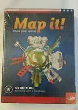 Map It! Know Your World Us Edition Brand New In Sealed Package