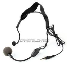 3.5mm Plug Earhook Headset Microphone For Sennheiser Wireless Mic Mike System