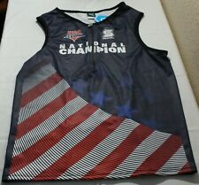 2012 USA Men's Sleeveless Half Zippered Triathlon Cycling Jersey