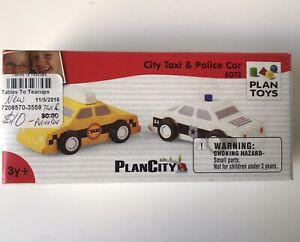 PlanToys City Taxi & Police Car