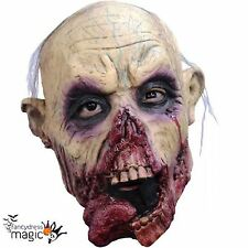 Boys Deluxe Latex Zombie Tongue Walking Halloween Dead Horror Head Costume Mask