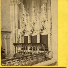 RIPON MINSTER CATHEDRAL N.  YORKSHIRE ENGLAND STEREOVIEW INTERIOR THE CHANCEL