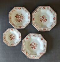 Vintage Independence Ironstone Octagonal Bittersweet Bowls Set of 4 Japan