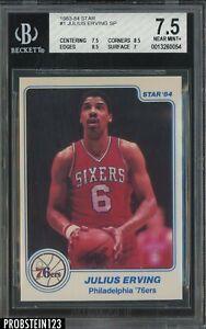 1983-84 Star Basketball #1 Julius Erving SP Philadelphia 76ers HOF BGS 7.5