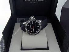 NEW Raymond Weil Tango 300 Rubber Strap Men's Watch 8160-SR1-20001
