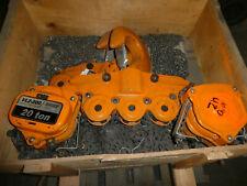 Ingersoll Rand 20 Ton 40000 Lb Manual Chain Hoist Lift Vl2 200 20ton 40000