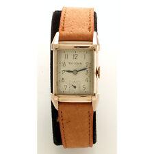 Vintage Bulova Wrist Watch 21-Jewel Mechaincal Hand Wind Rectangular Case C1950s