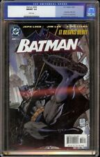 Batman # 608 CGC 9.8 White (DC, 2002) Cat Woman and Poison Ivy appearance