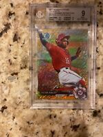 2017 BOWMAN CHROME GOLD SHIMMER REFRACTOR VICTOR ROBLES RC #46/50 BVG 9 Rare SP