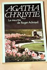 AGATHA CHRISTIE-MEUTRE DE ROGER ACKROYD,LIVRE DE POCHE