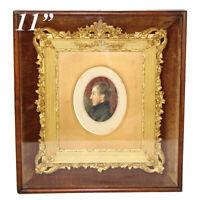 """Fab Antique Victorian Shadow Box 11.25"""" Picture Frame, Gilt Gesso, Portrait Mini"""