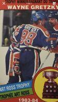 Wayne Gretzky 1984-85 Art Ross O-Pee-Chee NHL Hockey Card #373
