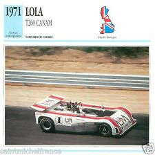 LOLA T260 CANAM 1971  CAR VOITURE GREAT BRITAIN GRANDE BRETAGNE CARTE CARD FICHE