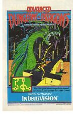 1983 Advanced Dungeons & Dragons Mattel Electronics Intellivision Advertisement