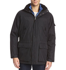 NEW IZOD Men's Black 3 in 1 Winter Parka COAT JACKET (Size Small) NWT $225