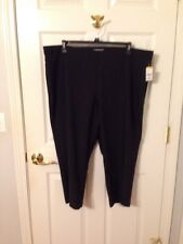 NWT Women's Laura Scott BLACK CAPRIS SIZE 2X Great For The Cruise Coming Up!!!