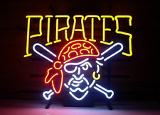 Neon Signs Gift Pirates Beer Bar Pub Store Party Homeroom  Wall Decor 19x15