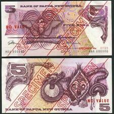 Papua New Guinea 5 Kina ND(1975) P2s AU/UNC - SPECIMEN