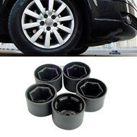 5X Lock Nut Lug Covers+Anti-theft Wheel Lug Nut Caps Set For VW Jetta Golf