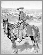"THE COWBOY, antique photo, OLD WEST, 17""x13"" print John Grabill, Horse, Western"