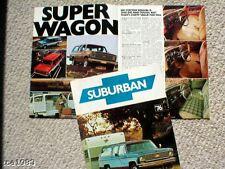 1976 Chevy SUBURBAN Brochure / Catalog w/Color Chart : 4WD,C10,C20,K10,K20,4x4