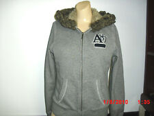 AEROPOSTALE WINTER COAT HOOD WITH FUR SHELL 72% COTTON 28% POLYESTER JR SIZE L