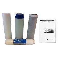 Juego Completo Filtros Osmosis Inversa + Manual de mantenimiento/desinfección
