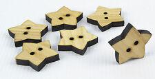 Tajadera grandes botones de madera 30mm/star shape/laser cut/beads/sewing / Manualidades