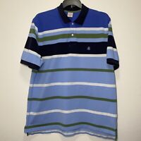 Brooks Brothers Men's XL Polo Shirt Short Sleeve Performance Polo Blue Striped