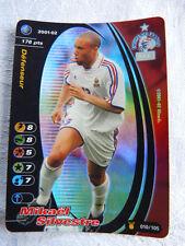Rare Carte Football Champion FOIL Wizards 2001-02 Mikaël Sylvestre Maillot Blanc