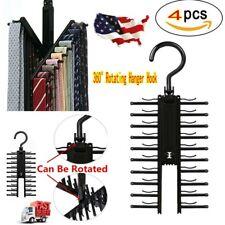 4Pcs 360° Cross X Hangers Tie Belt Rack Organizer Hanger Non-Slip Belt Hanger US