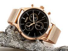 BRAND NEW Hugo Boss Companion Black Face Gold Chronograph Mens Watch HB 1513548