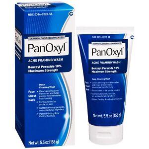 PanOxyl Acne Creamy Wash Benzoyl Peroxide 10% Spot Treatment Daily Wash 5.5 oz