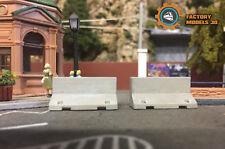 Barreras hormigón x10 / Concrete barrier x10 no roco no electrotren h0 1:87