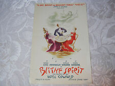 Theater Original Vintage Advertising Blithe Spirit Selwyn Theatre Chicago Rare