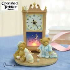 CHERISHED TEDDIES 2009 NIGHT LIGHT GRANDFATHER MUSICAL CLOCK, 4015570, NIB