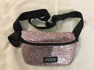 Victorias Secret PINK BELT BAG - GLITTER fanny pack crossbody purse