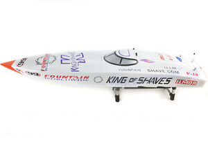 G26IP1 26CC White Prepainted RC Gasoline Boat Hull KIT Only for Advanced Player