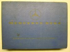 MERCEDES BENZ SPARE PARTS LIST EDITION A ref:10039 AUGUST 1961