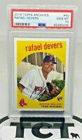 2018 Topps Archives MLB Baseball Rafael Devers RC PSA 10 GEM Red Sox