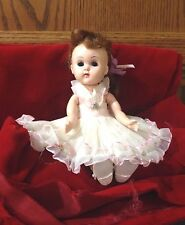Ginny Vintage 1950's Molded Lash Walking Doll, Clothes, Shoes, Trunk,
