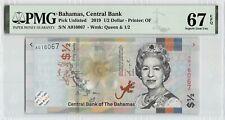 Bahamas 2019 PMG Superb Gem UNC 67 EPQ 1/2 Dollar