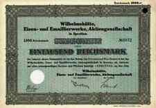 Wilhelmshütte Emaillier 1934 Sprottau Szprotawa Kotzenau Mallmitz 1000 M Gründer